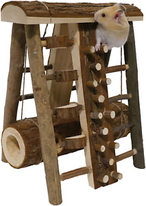 Small Animal Activity Toy Mouse Gerbil Hamster Wooden Climbing Frame Pet Toys