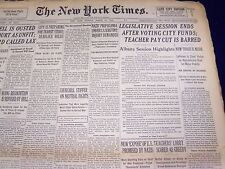 1940 MARCH 31 NEW YORK TIMES - TEACHER PAY CUT BARRED - NT 2885