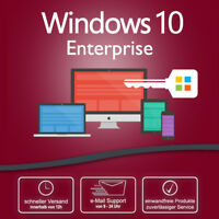 Key geeignet für : Windows 10  Enterprise OEM  Key 32/64 bit Produktschlüssel