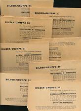 Unvollständige Sammelbilder mit Geschichts- &, Sammelsticker Alben