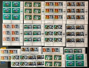 "United Nations 1987 ""No to Drugs"" Issue 10 Sets MNH"