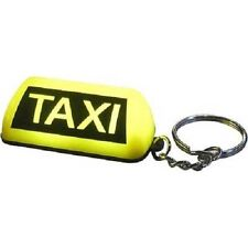 Key Chain Key Ring novelty Lettercraft Taxi Sign LED lights yellow x 20 quality