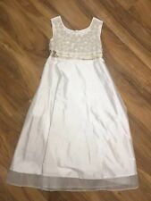 MONSOON 8-9 YEARS EMBROIDERED IVORY DRESS VGC