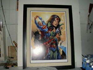 WB WARNER BROS STORE BRYAN HITCH JUSTICE LEAGUE POWER BEYOND COMPARE LITHOGRAPH