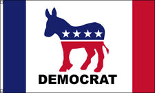 Democrat Flag 3x5 Polyester Donkey Stars