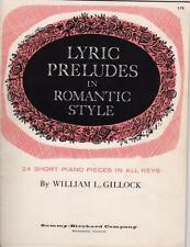 1958 Vintage Lyric Preludes in Romantic Style 24 Short Piano Pieces in All Keys