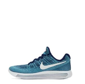 Nike LunarEpic Low Flyknit 2 Men's Running Trainers Shoes Blue UK 6
