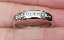 New Kay 14K Sz10 1/4Ct Diamond Mens Wedding Band Ring White Gold Men's