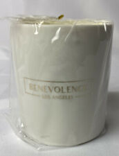 Premium Soy Candles Scented Relaxing Rich Fragrance of Tuscan Leather White Jar