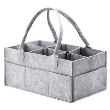 Portable Diaper Caddy Organiser Baby Nappy Storage Bin Felt Basket Diaper Basket