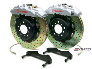 Brembo Front GT Big Brake Kit BBK 8 piston Silver 380x34 Drill A8 D3 04-10