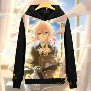 Anime Violet Evergarden Cos Sweater Sweatshirts Unisex Casual Hoodids Coat #M17