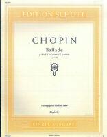 Chopin ~ Ballade in g-moll , Op. 23, herausgegeben von Emil Sauer