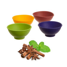 4 pieces CUTE Mini Color Flexible Silicone Pinch Bowl Herb Kitchen Prep Tools