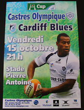 Affiche RUGBY - H CUP - saison 2010-2011 - CASTRES OLYMPIQUE / CARDIFF BLUES