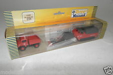 "Roco/Minitanks 1:87 h0 633 us tractor + Unimog ""us-Army Fire dep."" embalaje original (e6228)"