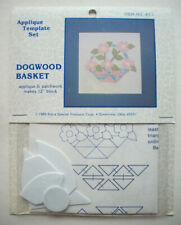 "Dogwood Basket plastic templates for quilt quilting 12"" block"