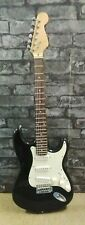 Black S Type Guitar with White Scratchplate