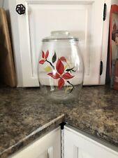 Bartlett Collins Poinsettia Cookie Jar Hand painted Flowers Vintage