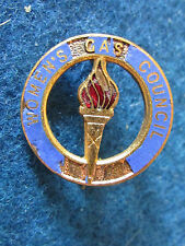 Vintage Enamel Badge - Womens Gas Council - Made by HW Miller