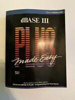 Vintage dBase III Plus Book Miriam Liskin