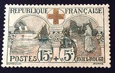 France N° 156 L'infirmière NSG Fond Vert Au Lieu De Rose TB Pièce Côté 140€