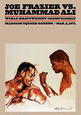 """Frazier vs Ali- Fight Poster (March 8, 1971 at MSG), 8""""x10"""" Color Photo"""