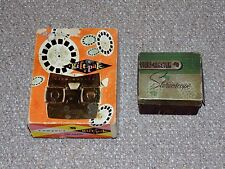 Vintage Lot of 2 Boxed Sawyer's View-Master Toys (Models C & E) with 19 Reels