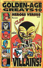 GOLDEN-AGE GREATS V.10  HEROES VS VILLAINS DAREDEVIL, CAT-MAN, AVENGER, IBIS
