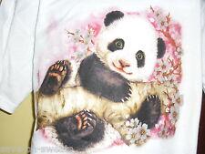 Kids Panda White Tee Shirt Brand New 50 50 blend Best seller Size 14-16 Large