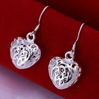 beautiful Fashion Silver nice women pretty love heart Earring JEWELRY 925