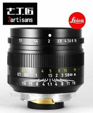 7artisans 50mm f1.1 Manual Lens for Leica M Mount M-M M3 M6 M7 M8 M9p M10 Black