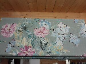 Roman Blind, Laura Ashley Cosmos grey/green fabric  (Made to measure)