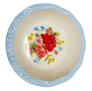The Pioneer Woman Mini Pie Pan Sweet Rose 4.75 inch Stoneware Floral