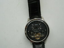 Fossil Twist men's black leather mechanical & Automatic Analog watch.Me-1113