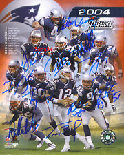 NEW ENGLAND PATRIOTS Team Brady Signed Patriots Autograph Reprint 8x10 Photo #2