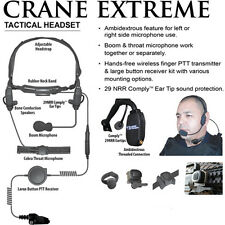 Earphone Connection CRANE EXTREME Tactical Headset for Kenwood NX TK (See List)