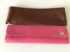 CROSS pink Leather Pen Holder Case + Dust Bag