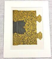 1857 Antik Aufdruck Deutsche Gold Buch Cover Bindung Zier Metallarbeiten Spange