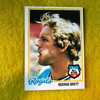 GEORGE BRETT , ROYALS , 1978 TOPPS ALL STAR BASEBALL CARD #100 BEAUTIFUL CARD