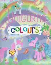 Colors -  Unicorns - Malbuch für Kinder mit Malvorlagen, ausmalen lernen #097
