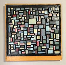 """""""Original Art Deco Wood Wall Art Sculpture Modern Decoration Handmade Color USA"""""""