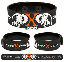 X JAPAN Rubber Bracelet Wristband Blue Blood  Jealousy Dahlia
