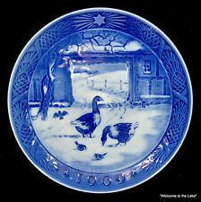 "Royal Copenhagen - 1969 Christmas Plate ""In the Old Farmyard"""