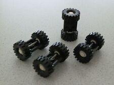 Lego 122c02assy3 # 4x Achse Achsen 2x2 Schwarz / weiß 6883 6386