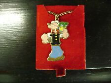 1979 Popeye Necklace Cloisonne Enamel King Features New Old Stock