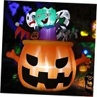 6FT Halloween Inflatables with Vampire, Pumpkins and Zombie in The Pot