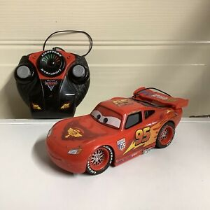 Disney Pixar Cars 2 Lightning Mcqueen Remote Control Car Tested Working