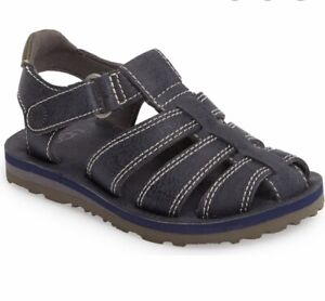 UGG Toddler boys Josiah navy blue fishermen Sandals
