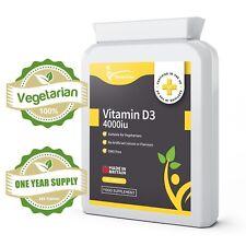 Vitamin D3 4000IU - ONE YEAR SUPPLY High Strength Tablets Vit D Cholecalciferol